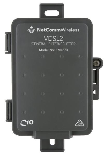 NetComm EM1670B VDSL/ADSL2+ Central Filter - Outdoor Use Australian Certified used by NBN 1