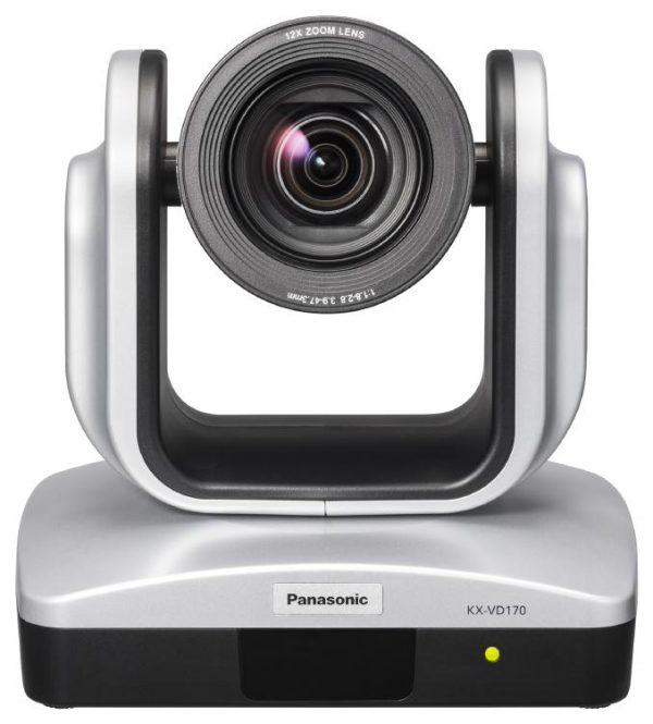 Panasonic KX-VD170  PTZ Camera (X12 optical Zoom, 1080i/p), 9 Preset location, Suitable for large conference rooms. 72.5 degree FoV 1