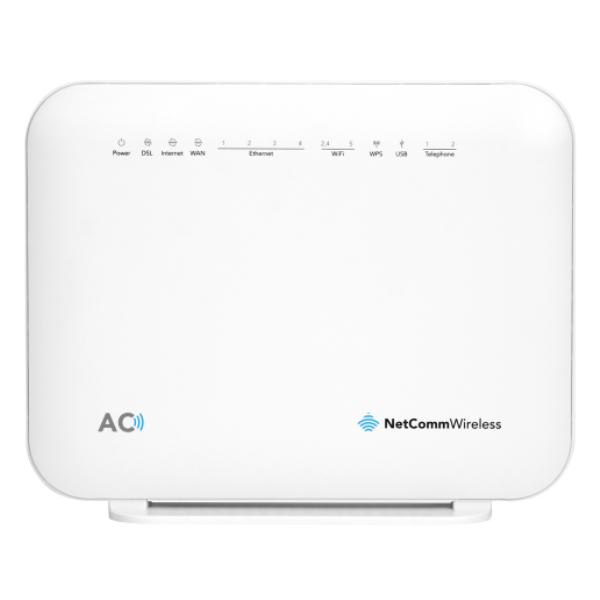 NetComm NF18ACV AC1600 WiFi VDSL/ADSL Modem Router with Voice - Gigabit WAN, 4 x Gigabit LAN, 2 x FXS Voice, 2 x USB Storage  ** NBN Compliant ** 1