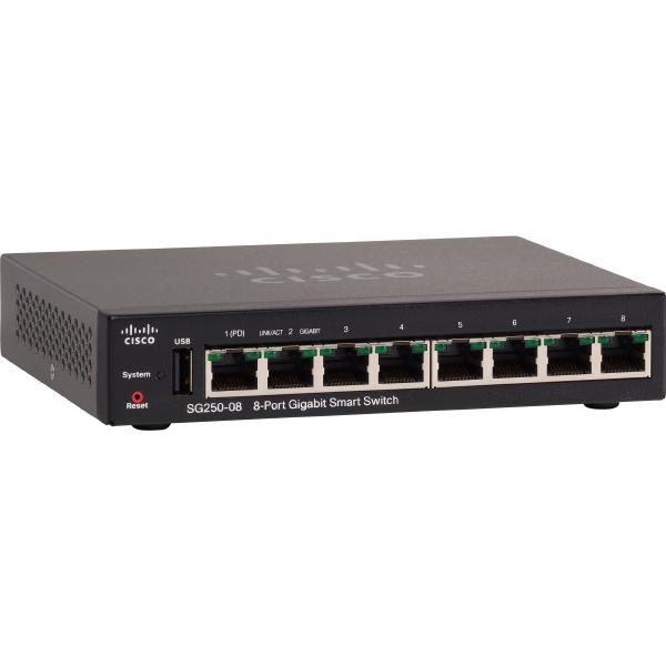 Cisco SG250-08 8-PORT GIGABIT SMART SWITCH 1