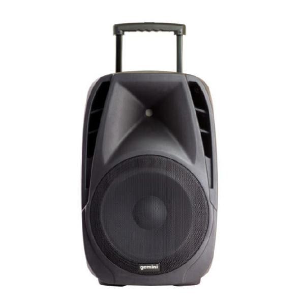 "Gemini ES-12TOGO Portable PA speaker system (12"" Active battery-powered loudspeaker | 600W Peak Power | Bluetooth | 2 x Wireless microphones) 1"