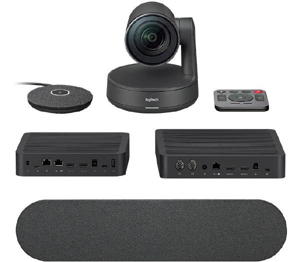 Logitech Rally Ultra HD Conference System Kit, Cmaera (1), Hub (2), Rally Speaker (2), Mic Pod (2), Remote Control (1) 1