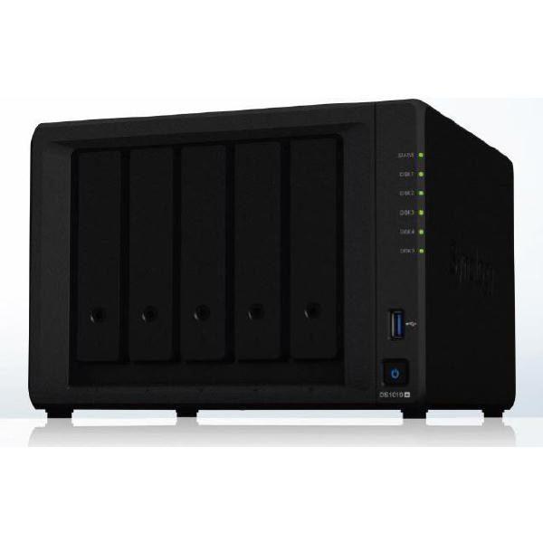"Synology DiskStation DS1019+ 5-Bay 3.5"" Diskless 2xGbE NAS (Tower) Intel Atom Quad Core 1.4GHz, 8GB RAM,2xUSB3,1x eSATA, Scalable.3 year Wty 1"