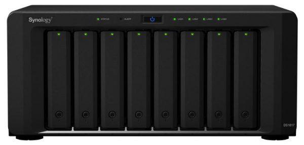 "Synology DiskStation DS1817 8-Bay 3.5"" Diskless 2xGbE + 2x10GBASE-T, Alpine AL-314 quad-core 1.7GHz, 4GB RAM, 2xUSB3, 2x eSATA, Scalable,3 yr wty 1"