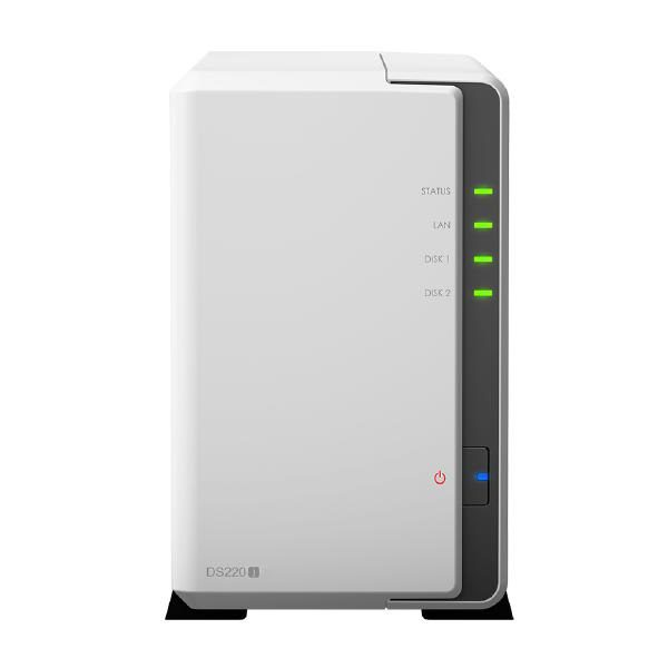 "Synology DiskStation DS220J 2-Bay 3.5"" Diskless 1xGbE NAS (Tower) , Realtek RTD 1.4GHz, 512MB RAM DDR4, 2 x USB3.0, 2 Yr Warranty 1"