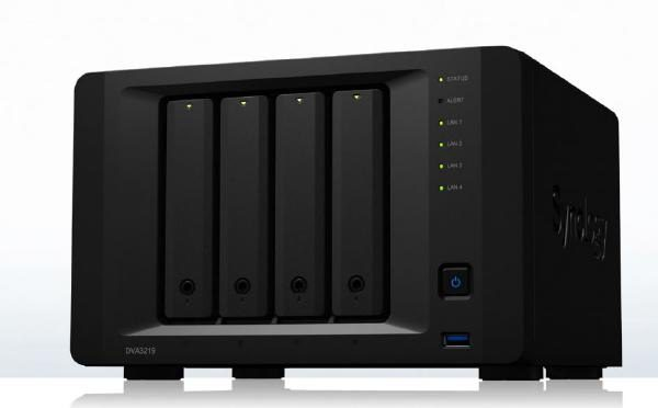 Synology NVR DVA3219 - 4 Bay NVR with an Intel Atom C3538, NVIDIA GeForce GTX 1050 Ti , 4GB RAM + 8 device licenses included 1