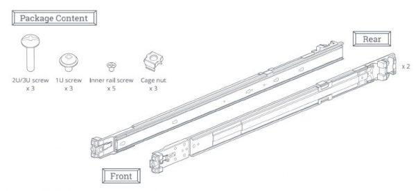 Synology Rail Kit RKS1317 (Sliding) for 1U, 2U and 3U NAS Systems 1