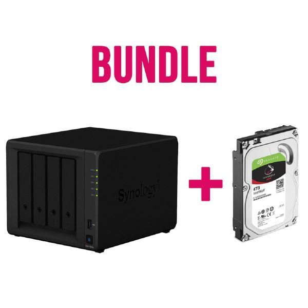 Synology NAS Starter kit for a Multimedia Hub - DS418Play (4Bay) x 1 + Seagate IronWolf ST4000VN008 4TB x 4 NAS Hard Drives 1