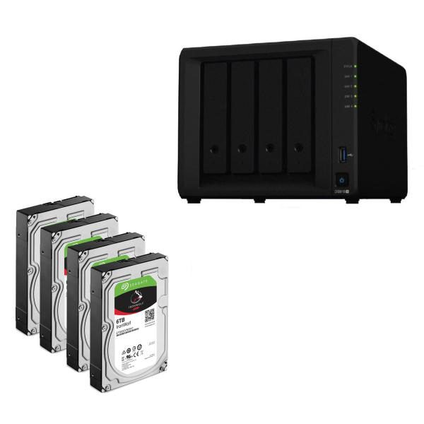 Synology Bundle - DS918+ x 1 NAS +  Seagate Ironwolf 6TB HDDs x 4 1
