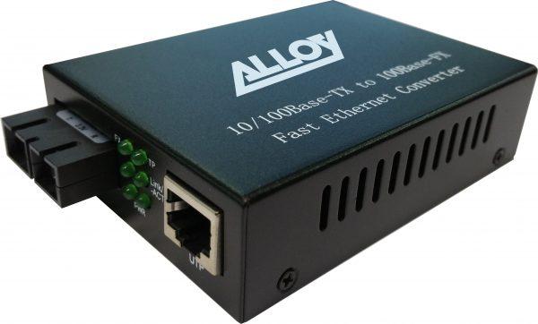 Alloy, 100Base-FX Multimode to 100Base-FX Single Mode Fibre (SC) Converter. 20Km 1