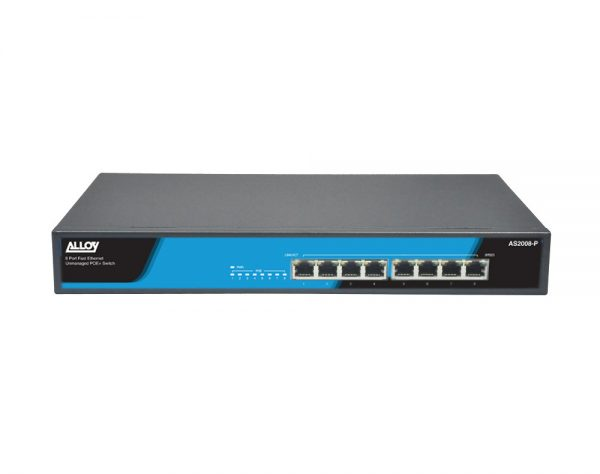 Alloy, 8 Port Unmanaged Fast Ethernet 802.3at PoE Switch, 150 Watts 1