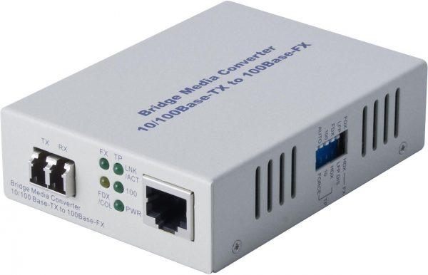 Alloy, 100Mbps Standalone/Rackmount Media Converter 100Base-TX (RJ-45) to 100Base-FX (LC), 2Km 1