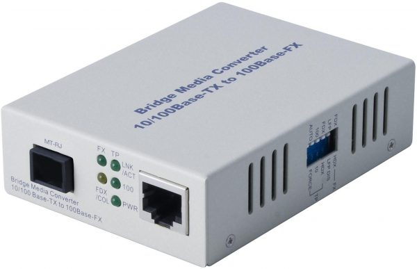 Alloy, 100Mbps Standalone/Rackmount Media Converter 100Base-TX (RJ-45) to 100Base-FX (MT-RJ), 2Km 1