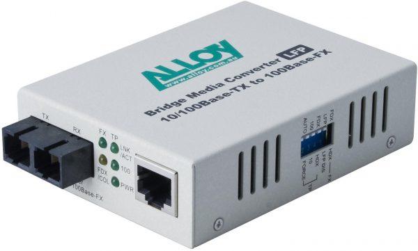 Alloy, 100Mbps Standalone/Rackmount Media Converter 100Base-TX (RJ-45) to 100Base-FX (SC), 20Km 1