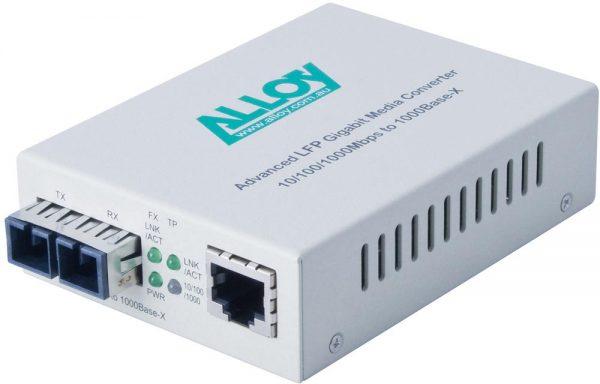 Alloy, Gigabit Standalone/Rackmount Media Converter 1000Base-T (RJ-45) to 1000Base-LX (SC), 10Km 1