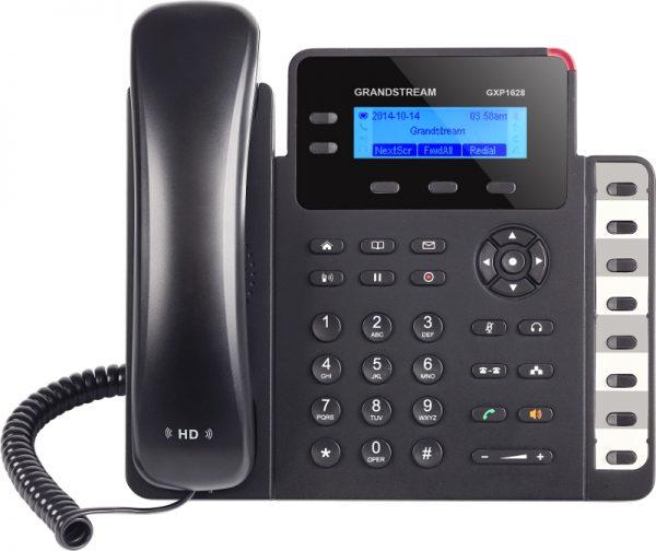 Grandstream, HD POE IP Phone 132x48 LCD, 2 lines, Dual Gigabit Ports, 3 program keys, 8 BLF, EHS 3