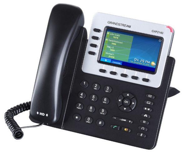 Grandstream, HD PoE IP Phone 480x272 Colour LCD, 4 lines, Dual GbE, 5 program keys, BT, EHS 3