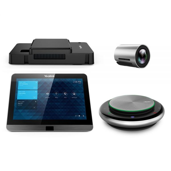 Yealink, MVC300 Room System for Microsoft Teams and SFB, Mini-PC, 8'' Touch Screen, Mshare, 4K USB ePTZ Camera, 1x CP900 Speakerphone 1