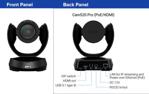 Aver CAM520 PRO ADVANCED USB PTZ Camera W/ HDMI Connectivity & PoE 3